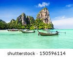 longtale boats at the beautiful ... | Shutterstock . vector #150596114