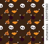 halloween pumpkins halloween...   Shutterstock .eps vector #1505975060