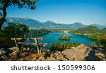 lake bled  view from above ... | Shutterstock . vector #150599306