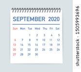 September 2020 Calendar Leaf....