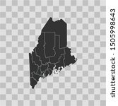 illustration vector map of maine | Shutterstock .eps vector #1505998643