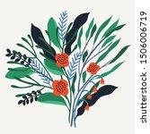 beautiful vector flower...   Shutterstock .eps vector #1506006719