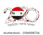 happy new 2020 year with flag... | Shutterstock .eps vector #1506008726