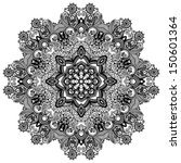 circle lace ornament  round... | Shutterstock .eps vector #150601364