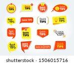 quick tips mega set  helpful... | Shutterstock .eps vector #1506015716