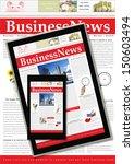 digital business news concept  | Shutterstock . vector #150603494
