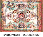 colorful ornamental vector... | Shutterstock .eps vector #1506036239