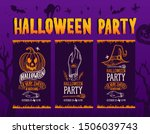 set of halloween invitation... | Shutterstock .eps vector #1506039743