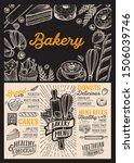bakery menu template for... | Shutterstock .eps vector #1506039746