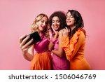 romantic blonde girl making...   Shutterstock . vector #1506046769
