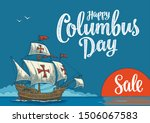 sailing ship floating on the... | Shutterstock .eps vector #1506067583