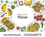 tacos cooking and ingredients... | Shutterstock .eps vector #1506068870
