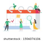 business people working on... | Shutterstock .eps vector #1506076106