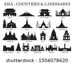 asia countries landmarks... | Shutterstock .eps vector #1506078620