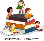 bookish,books,bookworm,boy,cartoon,cartoon people,children,clip art,clipart,cutout,drawing,early education,education,eps,female