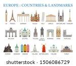 europe countries landmarks in... | Shutterstock .eps vector #1506086729