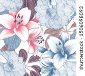 colorful floral seamless... | Shutterstock .eps vector #1506098093
