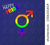 happy pride equality gender sign | Shutterstock .eps vector #1506101819