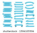 flat vector ribbons banners... | Shutterstock . vector #1506105506