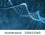 dna on a beautiful background | Shutterstock . vector #150611060