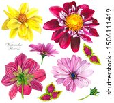 Dahlias Watercolor...