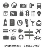 vacation silhouettes collection ... | Shutterstock .eps vector #150612959