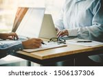 team  businessmans job .... | Shutterstock . vector #1506137306
