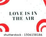 poster heart shape. 2d... | Shutterstock . vector #1506158186