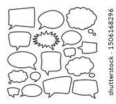 vector speech bubbles set... | Shutterstock .eps vector #1506168296