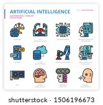 artificial intelligence icon... | Shutterstock .eps vector #1506196673