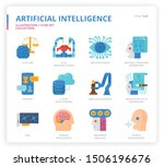 artificial intelligence icon... | Shutterstock .eps vector #1506196676
