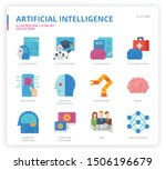 artificial intelligence icon... | Shutterstock .eps vector #1506196679