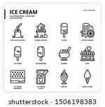 ice cream icon set for web... | Shutterstock .eps vector #1506198383