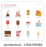 ice cream icon set for web... | Shutterstock .eps vector #1506198386
