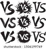 vs. battle vs match  game. set... | Shutterstock .eps vector #1506199769