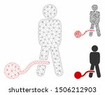 mesh guilty man model with... | Shutterstock .eps vector #1506212903