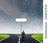 back view of businessman... | Shutterstock . vector #150621524
