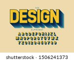 vector of stylized modern font... | Shutterstock .eps vector #1506241373