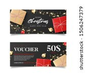 gift voucher for new year and... | Shutterstock .eps vector #1506247379