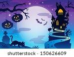 halloween topic background 3  ... | Shutterstock .eps vector #150626609