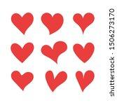 red heart shapes on white... | Shutterstock .eps vector #1506273170