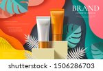 cosmetic plastic tube ad on... | Shutterstock .eps vector #1506286703
