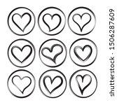 red heart shapes on white... | Shutterstock .eps vector #1506287609