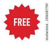 free vector label. red badge...   Shutterstock .eps vector #1506287750