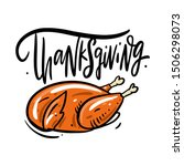 Thanksgiving Lettering And...