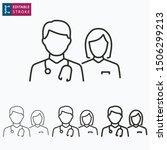 doctor outline icon on white... | Shutterstock .eps vector #1506299213