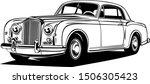 classic vintage retro car design   Shutterstock .eps vector #1506305423