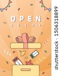 autumn shopping popup line... | Shutterstock .eps vector #1506318899