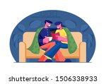 young loving couple spend time... | Shutterstock .eps vector #1506338933