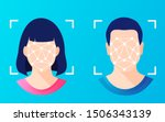 face id  facial recognition ... | Shutterstock .eps vector #1506343139
